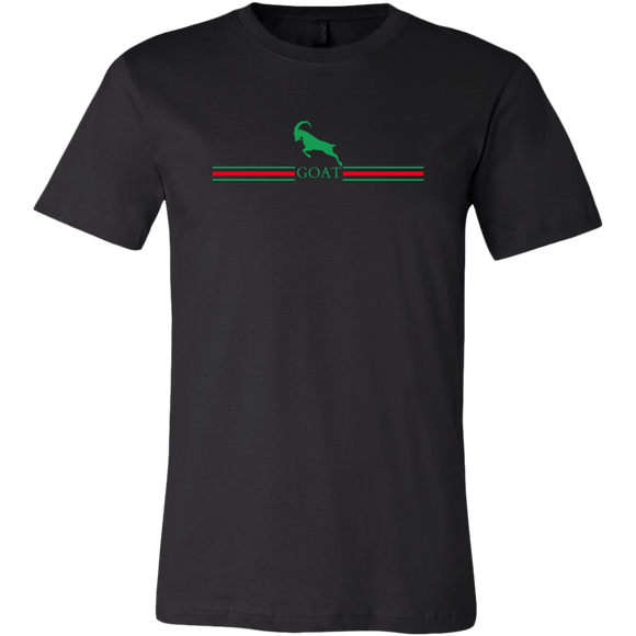 GOAT Black Green and Red Unisex Short Sleeve