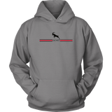 GOAT Grey Black and Red Hoodie