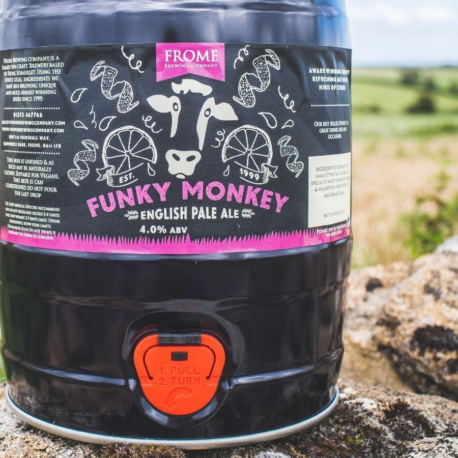 Funky Monkey, English Pale Ale - Mini Keg (9 Pints) - Frome Brewing Company