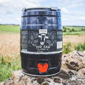 Zig Zag, Stout - Mini Keg (9 Pints) - Frome Brewing Company