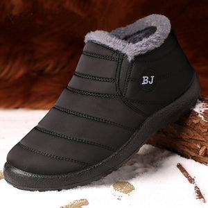 Winter Men'S Shoes For Men Boots Thick Fur Warm Ankle Boots Men Footwear Waterproof Snow Boots