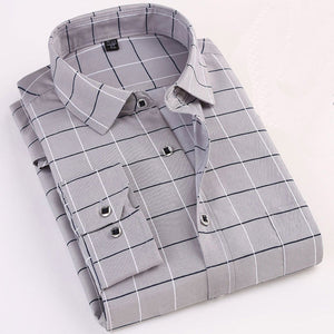 Men Shirt Long-Sleeved Casual Shirts For Men Slim Fit