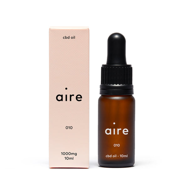 Aire 1000mg CBD Oil — 010  front bottle and carton