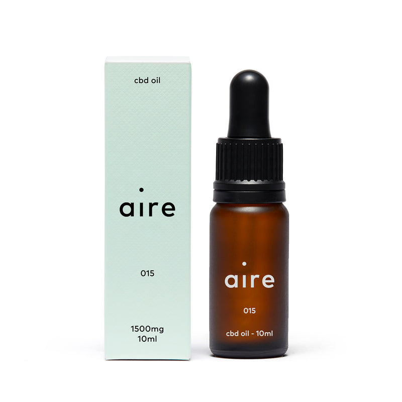 Aire 1500mg CBD Oil — 015 front bottle and carton