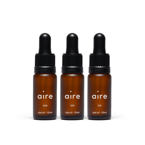 Aire 3000mg CBD Oil Bundle — front of bottles