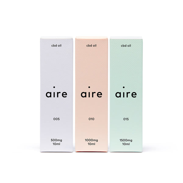 Aire 3000mg CBD Oil Bundle — front cartons