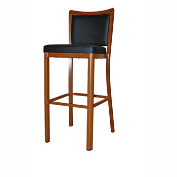Aluminiun Timber look Bar Stool