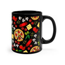 Load image into Gallery viewer, Black Pizza Mug 11oz