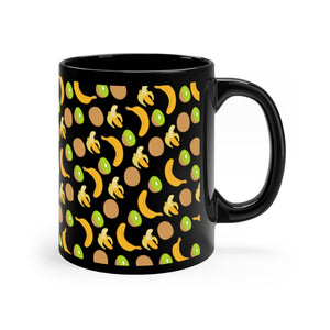Black Kiwi Banana Mug 11oz