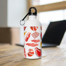 Load image into Gallery viewer, Meet Meat Stainless Steel Water Bottle