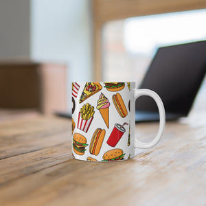 Donut Pizza Drink Ice Cream Hot Dog Mug 11oz