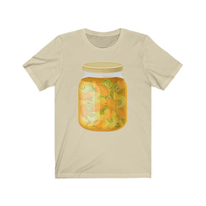 Unisex Jersey Short Sleeve Pickled Cucumbers, Carrots, and Shallots Tee