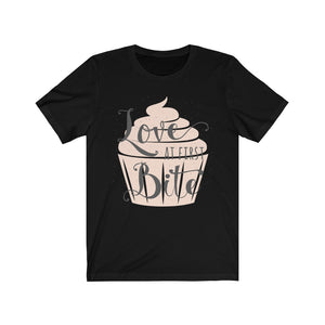 Unisex Jersey Short Sleeve Love At First Bite Cupcake Tee