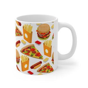 Pizza Burger French Fries Mug 11oz