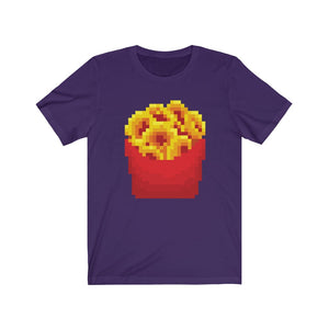 Pixel Onion Rings Unisex Jersey Short Sleeve Tee [Be Shocking]