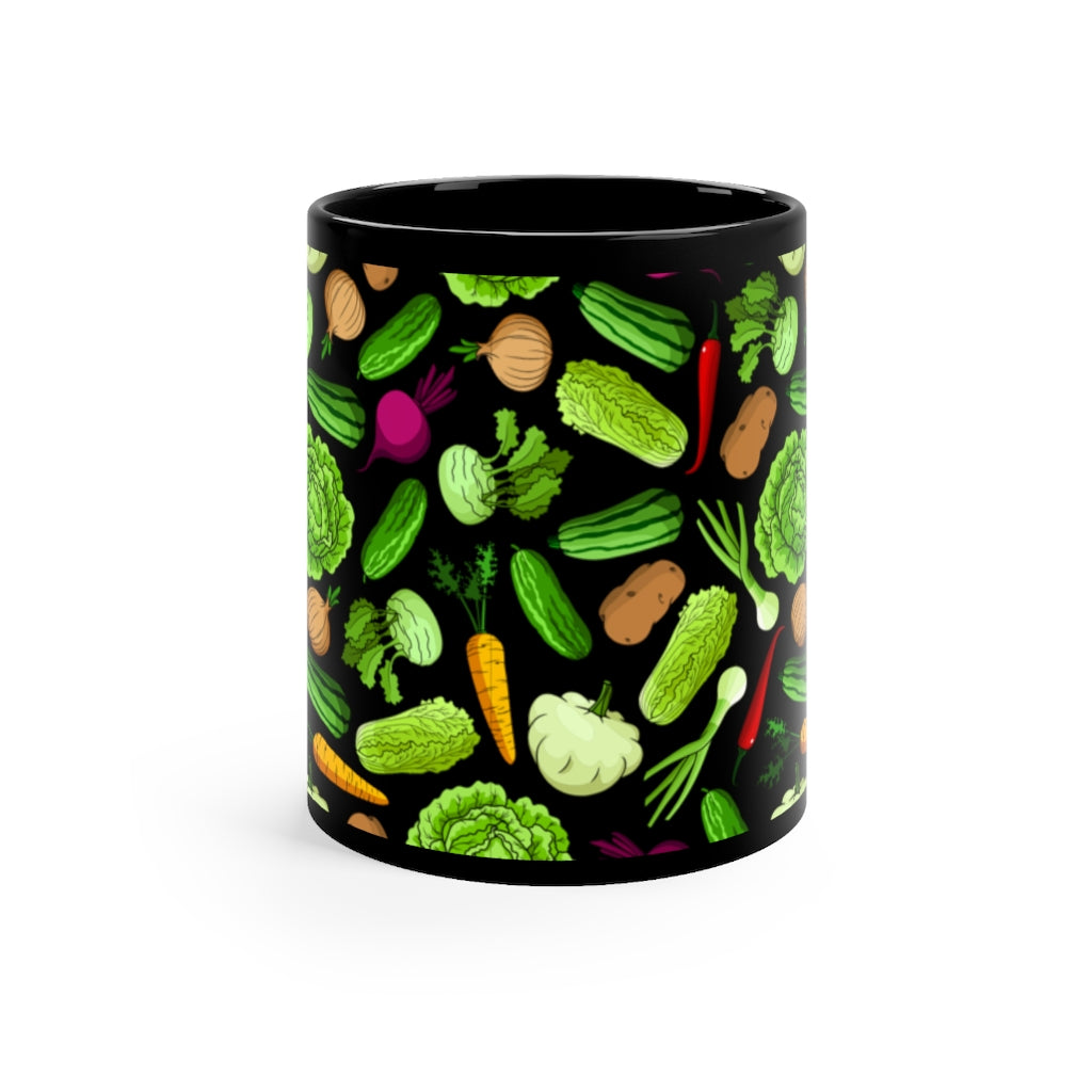 Black Vegetable Mug 11oz
