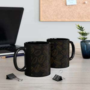 Black Coffee Bean Mug 11oz