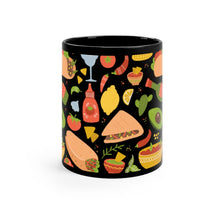 Load image into Gallery viewer, Black Mexican Food Mug 11oz