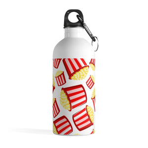 Eat More Popcorn Stainless Steel Water Bottle