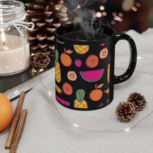 Load image into Gallery viewer, Black Watermelon Pineapple Orange Mug 11oz