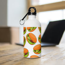 Load image into Gallery viewer, Cheeseburger Stainless Steel Water Bottle