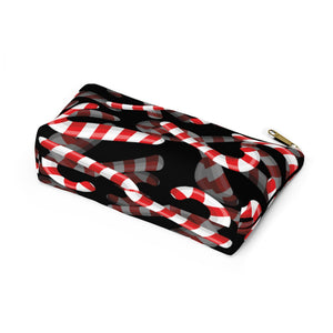 Candy Cane Love Accessory Pouch w T-bottom
