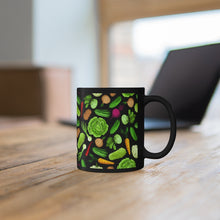 Load image into Gallery viewer, Black Vegetable Mug 11oz