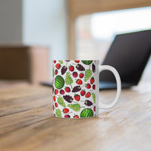 Load image into Gallery viewer, Strawberry Cherry Grapes Watermelon Mug 11oz