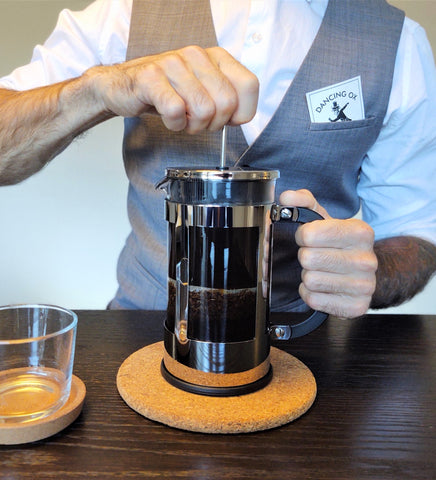 Simple french press instruction dancing ox coffee roasters