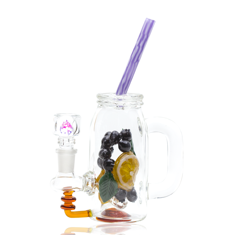 Blueberry Orange Detox Rig by Empire Glasswork