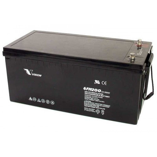 Vision 200Ah 12V Deep Cycle Gel Battery (AGM)