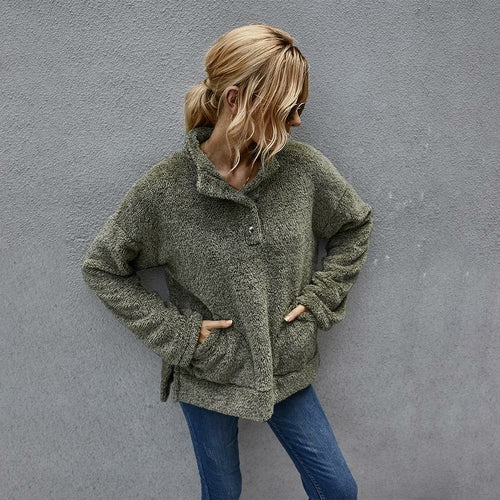 Women Autumn Winter Long Sleeve Jacket