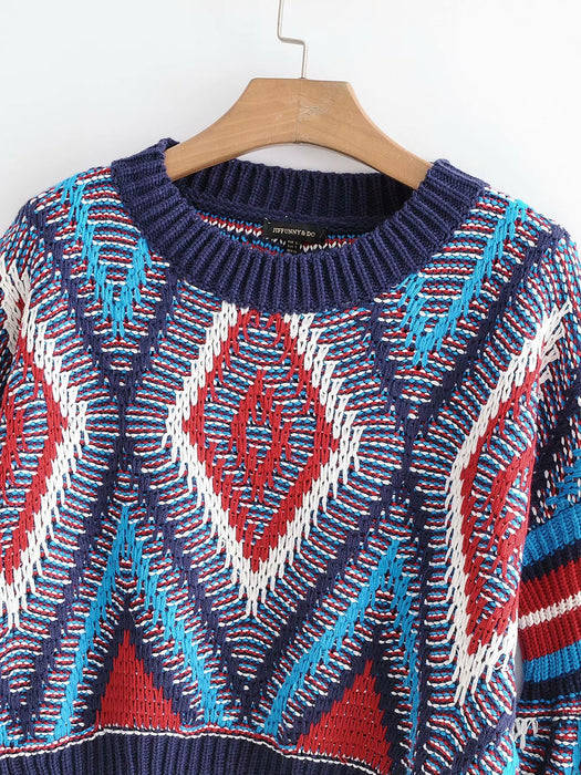 Autumn and winter colored women's sweater