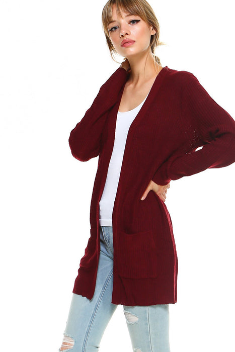 Longline Sweater Cardigan with Pockets