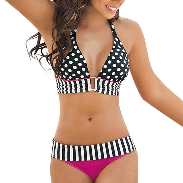 Sexy Striped/Dotted Bikini Sets