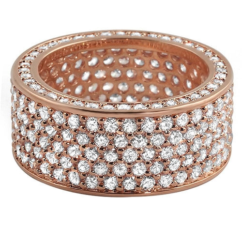 360 Rose Gold Eternity CZ Ring