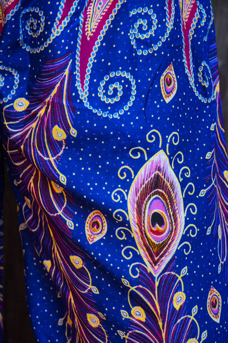 New Blue Peacock Boho Hippie Gypsy Pants