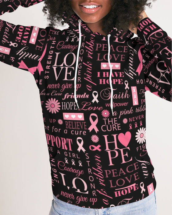 Cancer Awareness Hoodie Black