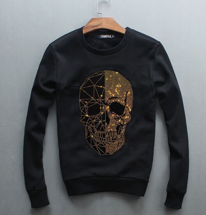 Sweatshirt Men Diamond design Hoodie  Hip Hop Crewneck Sweatshirts Winter Autumn  Design Brand Clothing