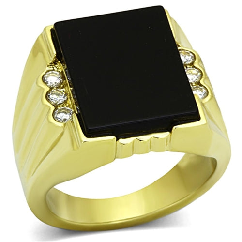 TK1236 IP Gold(Ion Plating) Stainless Steel Ring