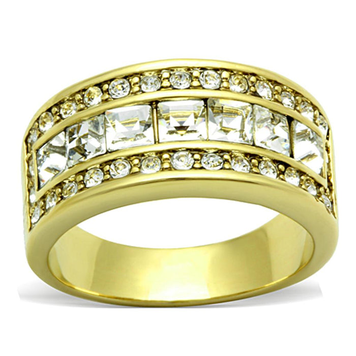 TK1386 IP Gold(Ion Plating) Stainless Steel Ring