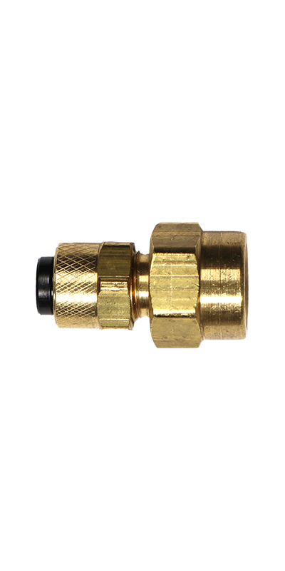 "1/4"" Tubing to 1/8"" Female Pipe Thread (NPT) Brass Connector - Stratus Micro-Mister"