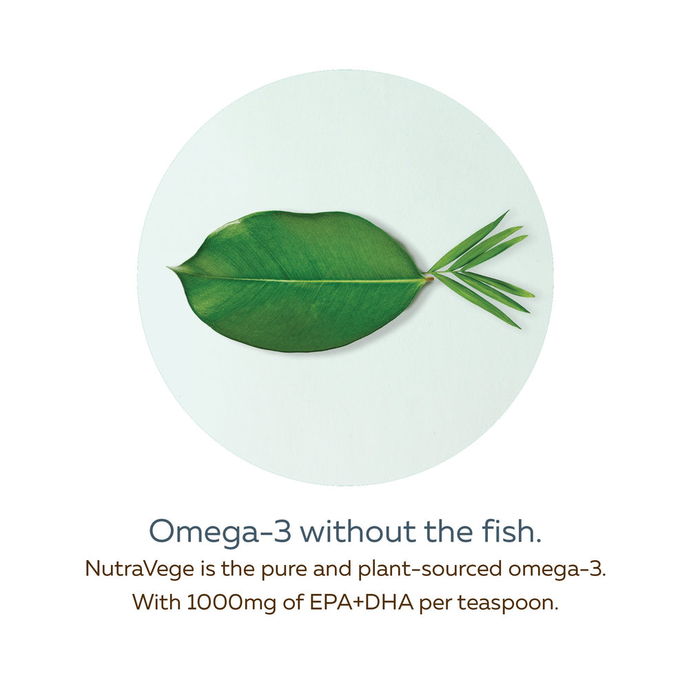 NutraVege™ Omega-3, Plant Based, Extra Strength, Lemon