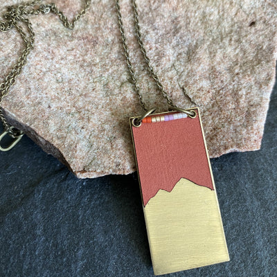 mountain vertical necklace
