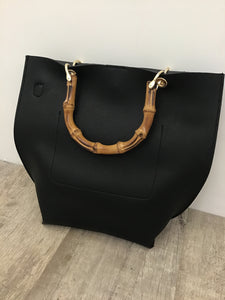 Black Bamboo Handbag