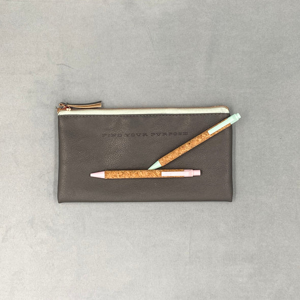 Pencil Case - Find your purpose - Cork pens -  accessories not included