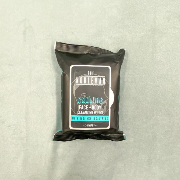 The Nobleman Active Cleansing Wipes - Face + Body - Aloe and Eucalyptus