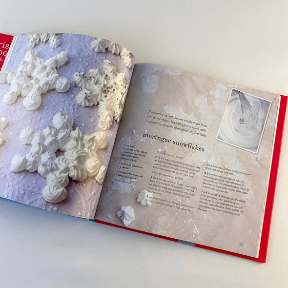 Christmas Cooking With Kids Cookbook - Meringue Snowflakes