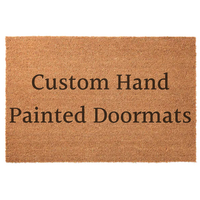Custom Hand Painted Door Mats