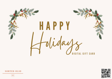 Holiday 2020 Sorted Olio Digital Gift Card